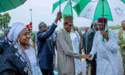 President Buhari, Aisha Depart For UN General Assembly