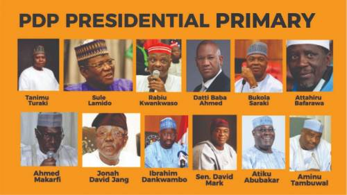 See Results Of PDP Presidential Primary Election