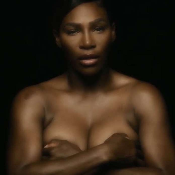 Watch: Serena Williams Goes Topless To Support Breast Cancer Awareness