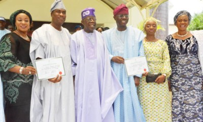 What Sanwo-Olu Said About Buhari, Tinubu After Receiving Certificate Of Return