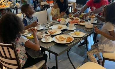 Nigerian Ace singer and father of three, Timi Dakolo, who is currently in Dubai on a family vacation with his wife, Bukola and children, Hallel, Alexander, and Zoe, took to Instagram to reveal the things his three kids don't like about him.