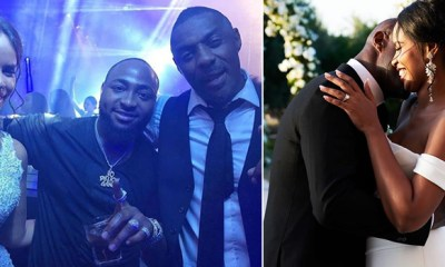Nigerian music superstar, Davido made a surprise and thrilling performance at Hollywood actor, Idris Elba's three day secret wedding to Sabrina Dhowre which was held at Morroco with friends and family.