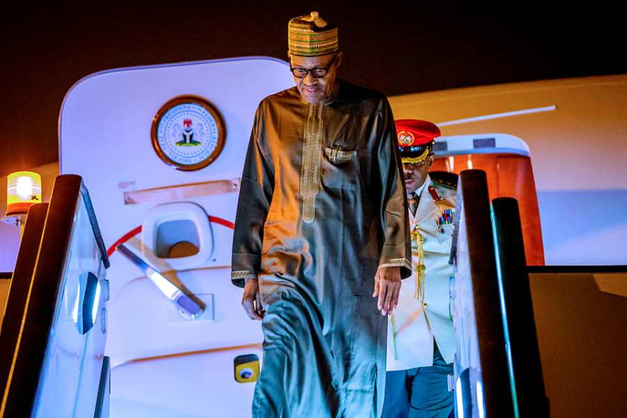 Buhari Returns To After Economic Summits In Jordan, Dubai