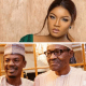 Popular Nollywood actress, Omotola Jalade-Ekeinde has reacted to a statement by President Muhammadu Buhari's media aide that those making 'clean money' in Nigeria are not complaining under the present government.