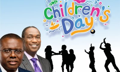 Governor-elect Babajide Sanwo-Olu, Senate President, Bukola Saraki alongside other Nigeria politicians have sent their best wishes to all children on the occasion of the 2019 Children's Day celebration.