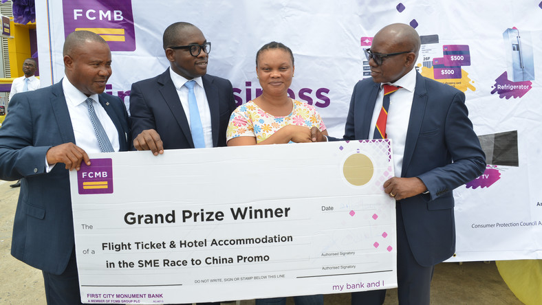 "First City Monument Bank (FCMB) has rewarded another set of its Small and Medium Scale Enterprises (SMEs) customers, courtesy of Season 2 of the Bank's reward scheme tagged ""FCMB SME Race to China Promo""."