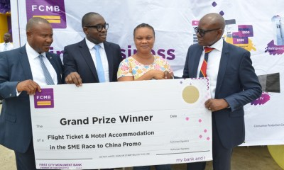"""First City Monument Bank (FCMB) has rewarded another set of its Small and Medium Scale Enterprises (SMEs) customers, courtesy of Season 2 of the Bank's reward scheme tagged """"FCMB SME Race to China Promo""""."""