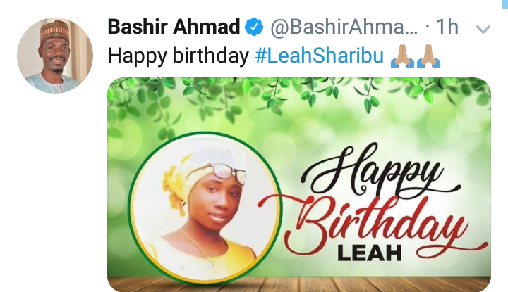 Leah was one of the 110 schoolgirls kidnapped by members of the terrorist group Boko Haram in February, 2018 from their school in Dapchi, in northeast Nigeria.