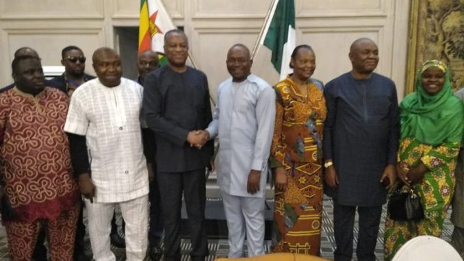 The Minister of Foreign Affairs, Mr Geoffrey Onyeama has admonished Nigerians residing in Zimbabwe to be industrious and to respect laws of their host country.