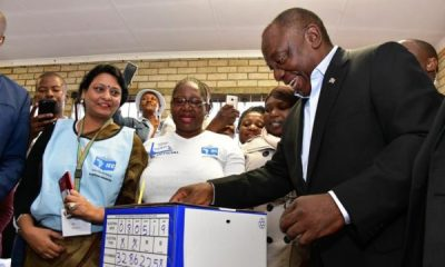 Elections officials in South Africa counted ballot papers in the early hours of Thursday, a day after a vote seen as the toughest test yet for the ruling African National Congress (ANC), 25 years after it swept to power at the end of white minority rule.