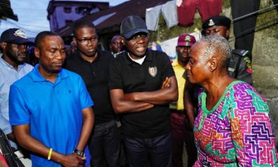 The Governor of Lagos state, Nigeria's megacity Babajide Sanwo-Olu and his deputy Femi Hamzat paid a condolence visit to the family of late Mrs. Folasade Arogundade, a LASTMA officer who lost her life in the line of duty.