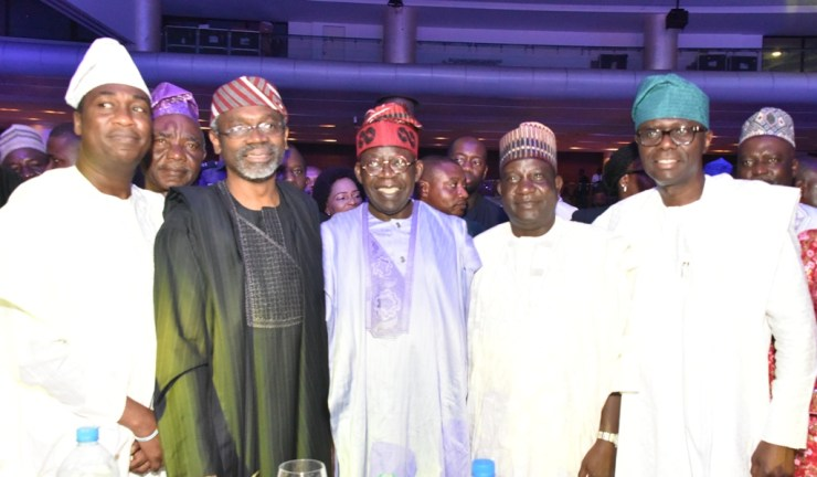 Lagos State Governor, Mr Babajide Sanwo-Olu, Wife Mrs Ibijoke Sanwo-Olu, Asiwaju Tinubu, others were cited at the reception In honour of Rt. Hon Gbajabiamila as the new speaker, House of Representatives.