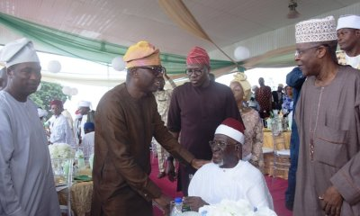 Eid-El-Fitri: Sanwo-Olu Hosts Chief Imam of Lagos, Others (Photos)