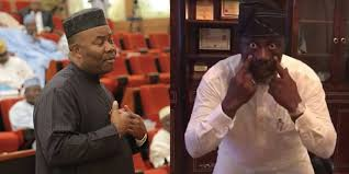 Former lawmaker representing Akwa Ibom North at the red chamber of the National Assembly, Senator Godswill Akpabio, has responded to the jibe thrown at him by Senator Dino Melaye when he (Akpabio) lost his election to return to the Senate.