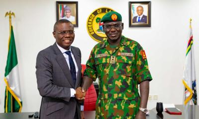 Sanwo-Olu Receives Chief Of Army Staff, Praises Military For Professionalism