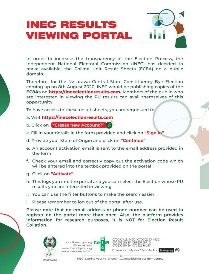 INEC RESULT VIEWING PORTAL IREV