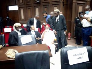 Biafra: Former Anambra Governor Storms Court For Nnamdi Kanu's Trial [Photos]