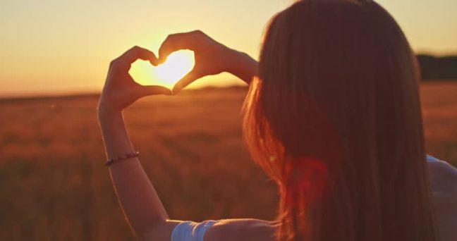 heart with sun
