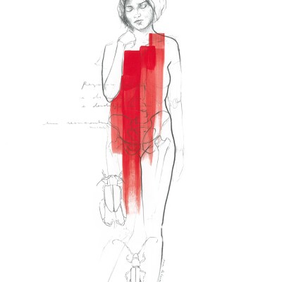 Regresso   Graphite and acrylic on paper. 29.7 x 42 cm   2019