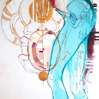 Entranhas III |  Mixed media on canvas | 62 x 115 cm  | 2021