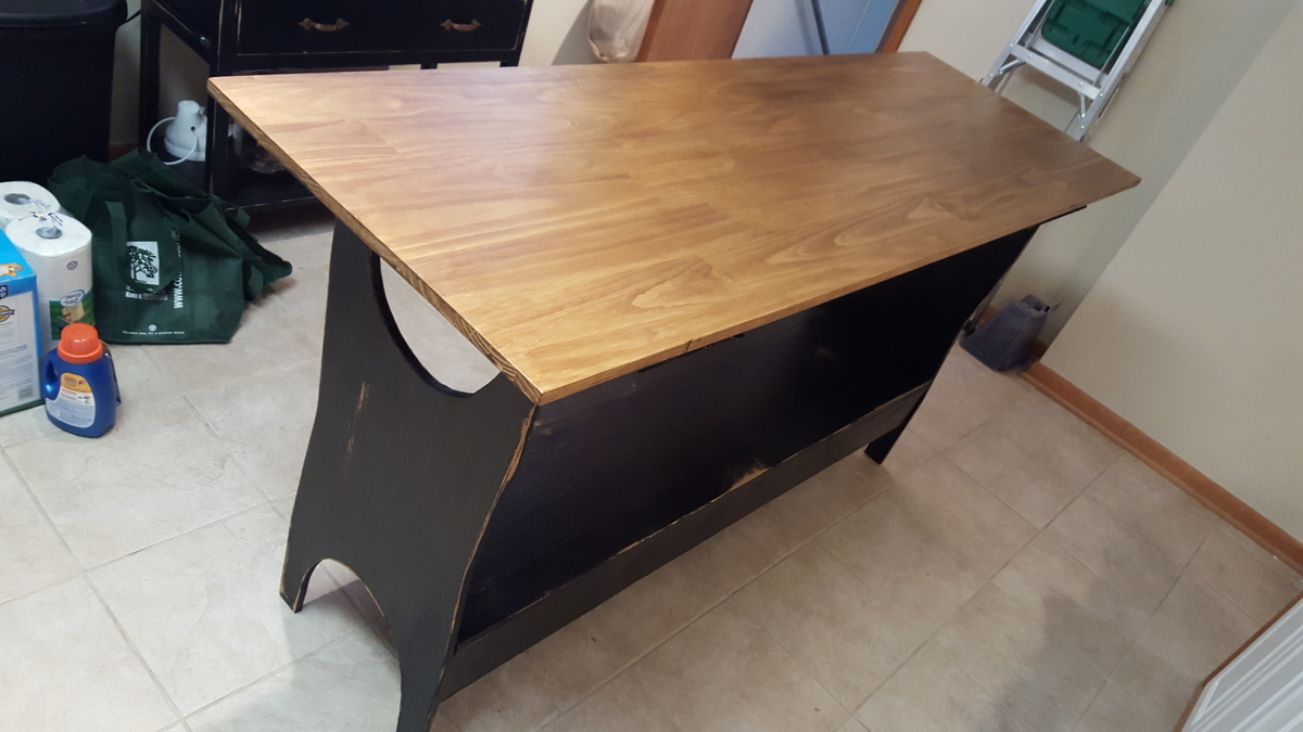 Kitchen Island Trestle Table - DIY Projects