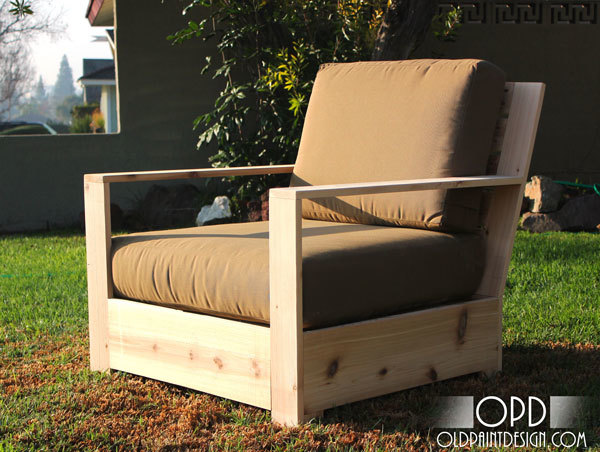 outdoor lounge chair inspired by restoration hardware belvedere chair