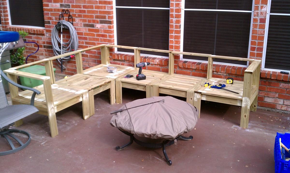 Build Plans Diy Outdoor Sectional Wooden Storage Bench Diy