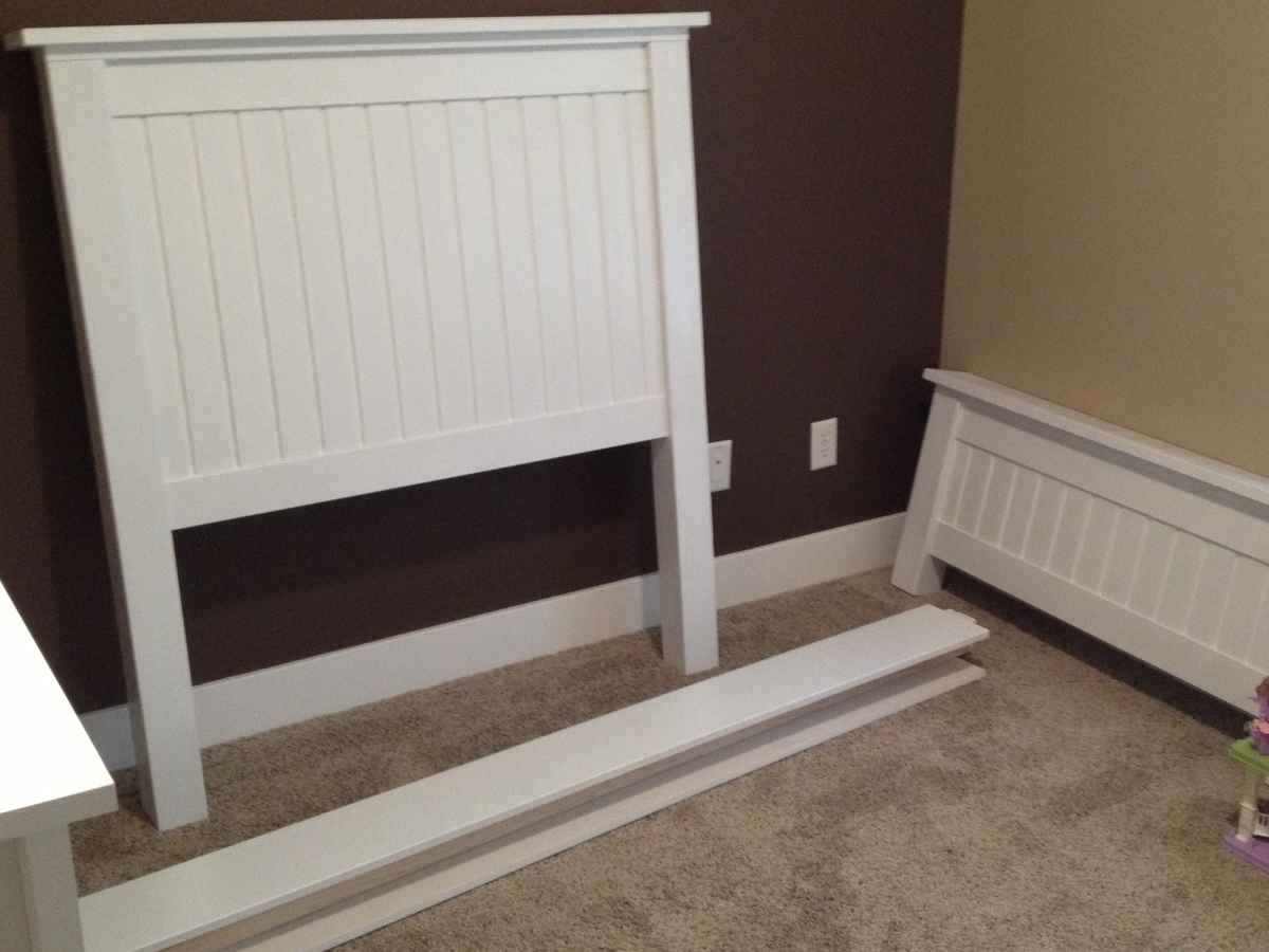 Ana White Twin Farmhouse Bed MDF Instead DIY Projects