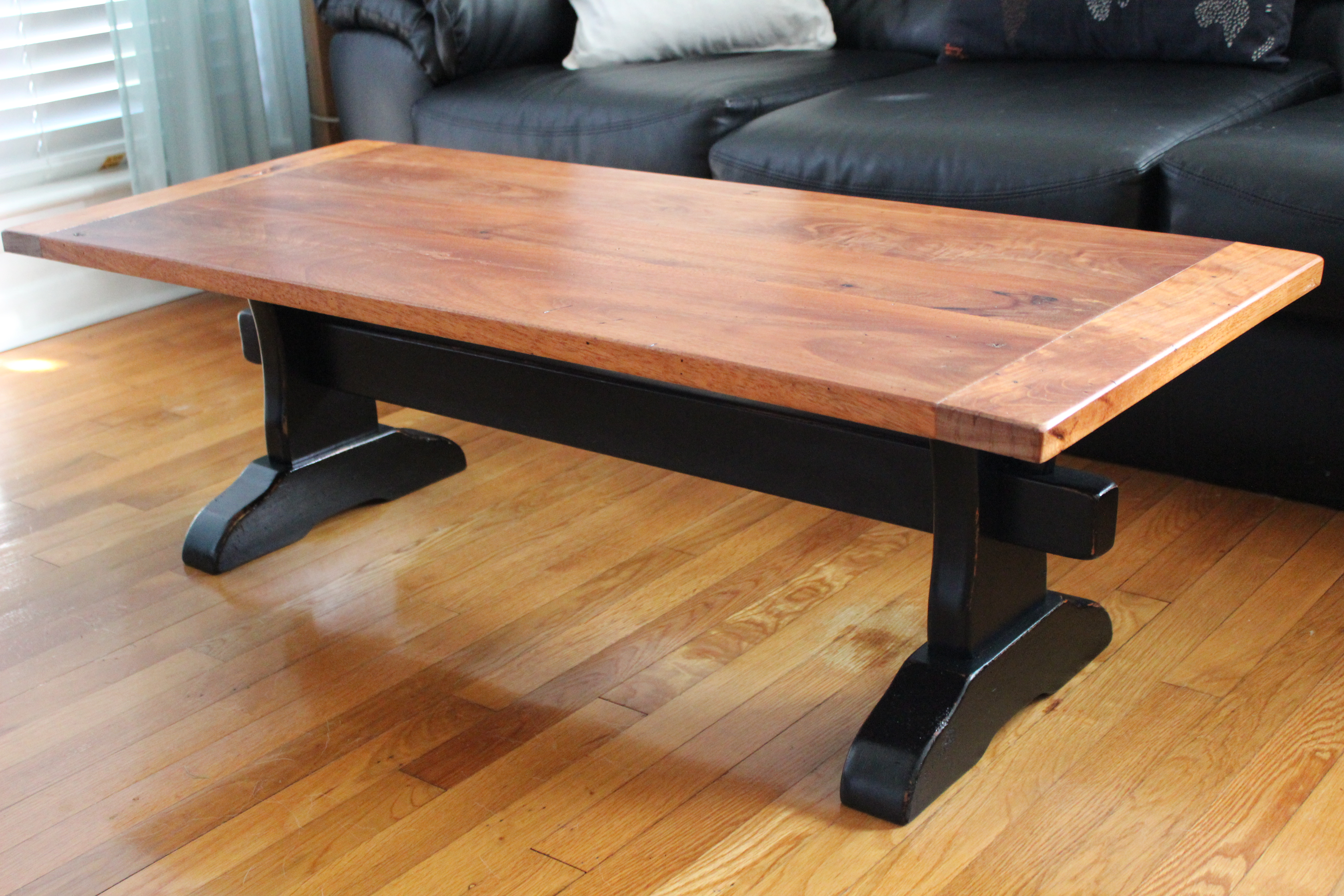 Trestle Table With Mahogany Top - DIY Projects
