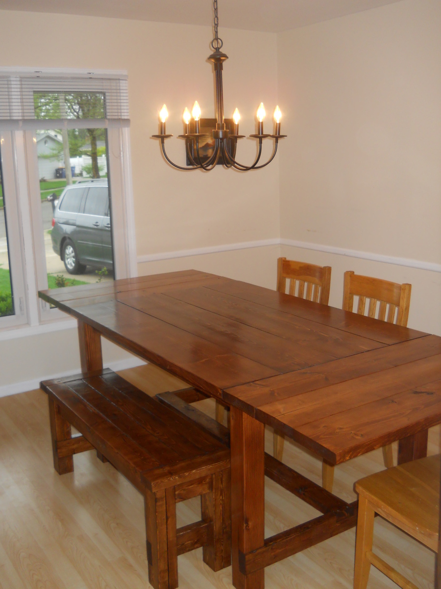 Ana White Farm House Dining Room Table Modified With Breadboard Extensions DIY Projects