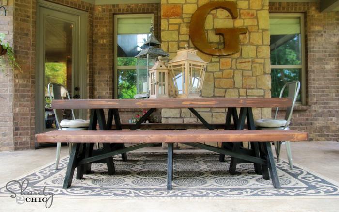 sawhorse outdoor bench ana white