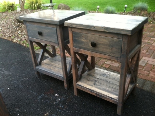 X Frame Nightstand - DIY Projects