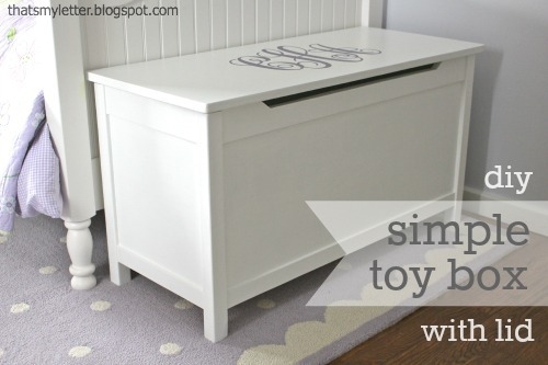 Ana White   Build a Simple Modern Toy Box with Lid   Free and Easy DIY ...