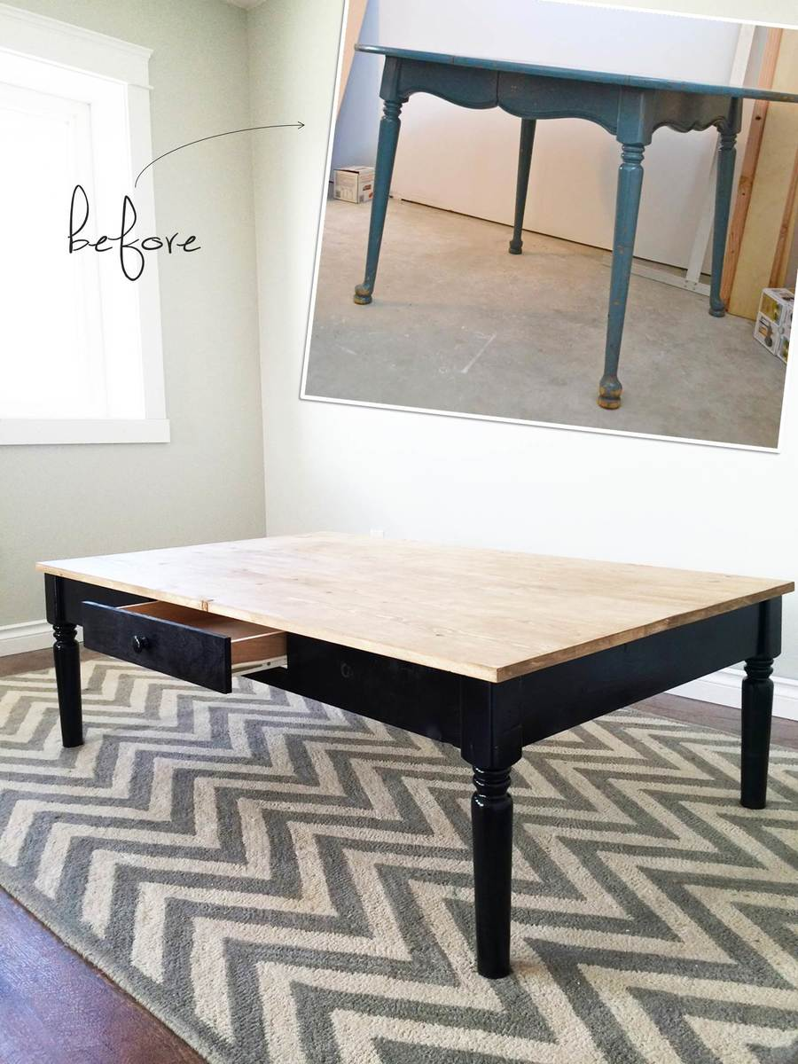 Ana White Turned Leg Coffee Table With Apron Drawer
