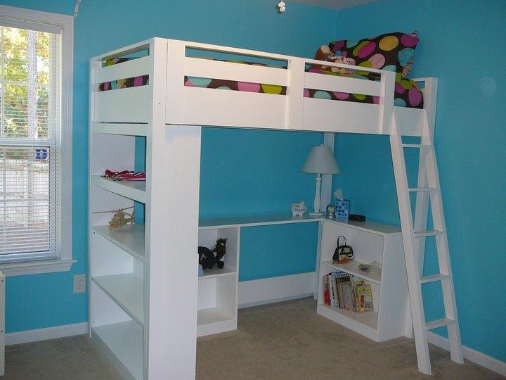 loft bed shelf plans