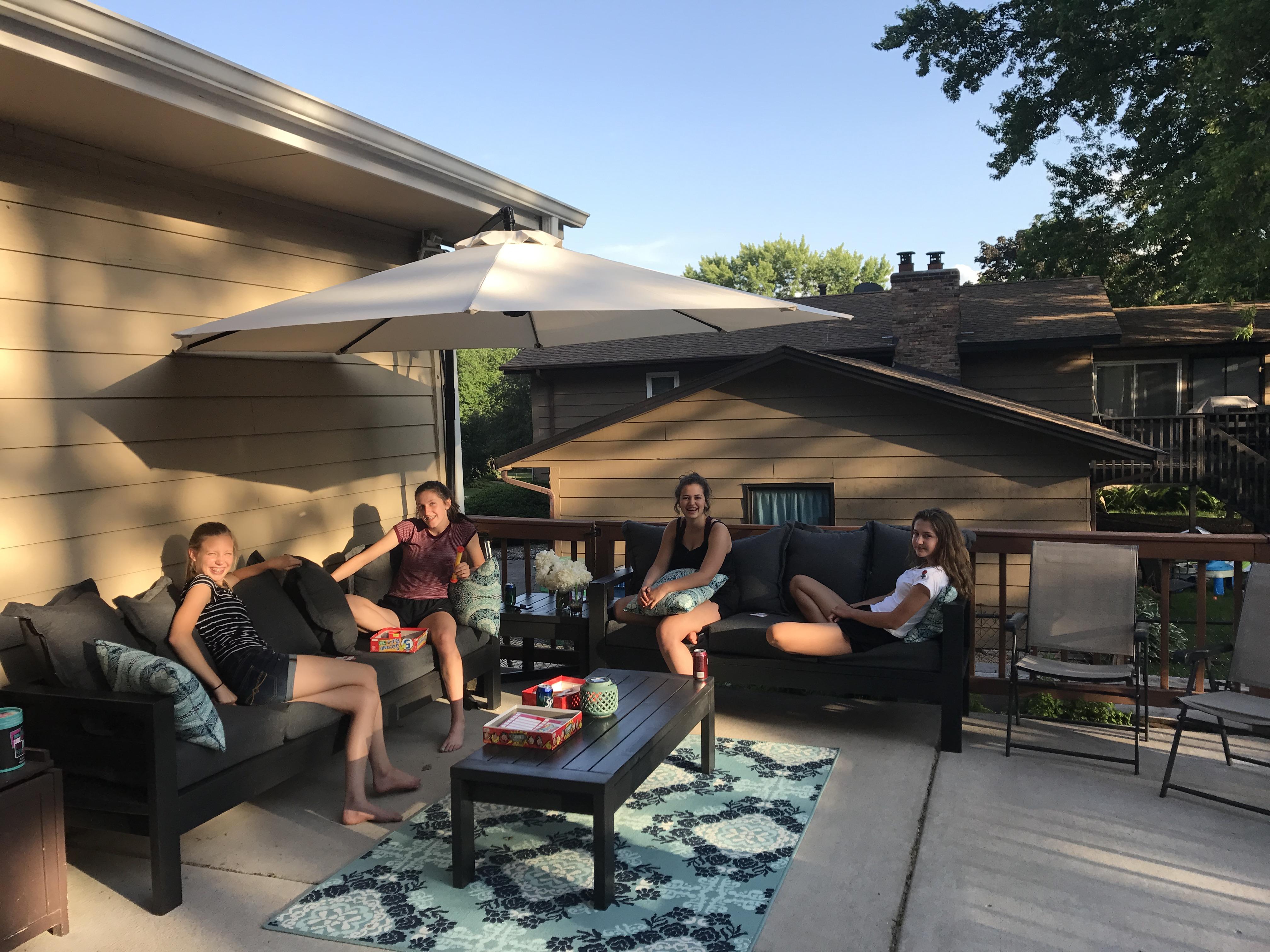 2x4 outdoor patio furniture set ana white