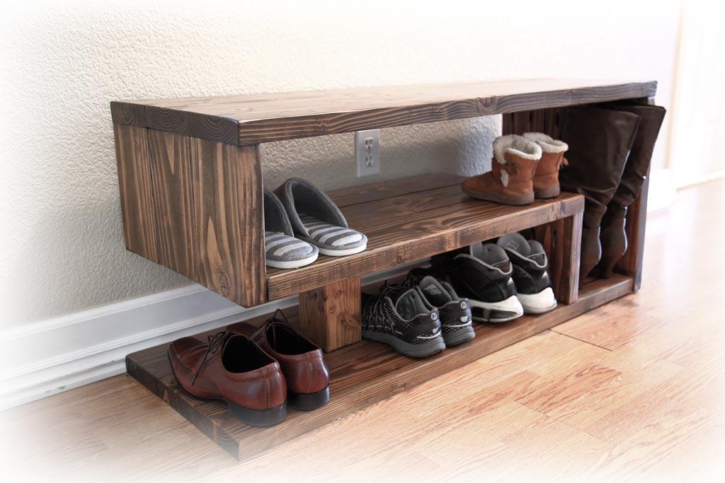 shoe rack bench ana white