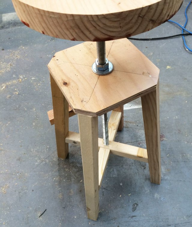 Ana White | Build a Industrial Adjustable Height Bolt Bar Stool | Free ...