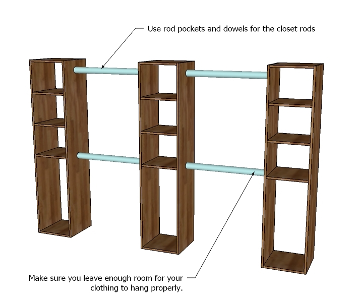 closet woodworking plans