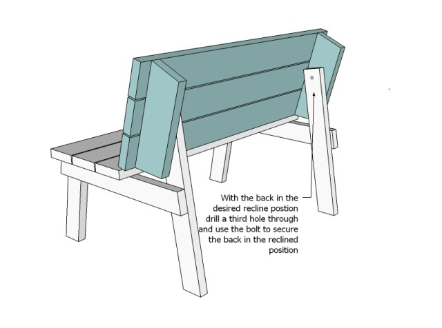 Ana White | Build a Picnic Table that Converts to Benches | Free ...