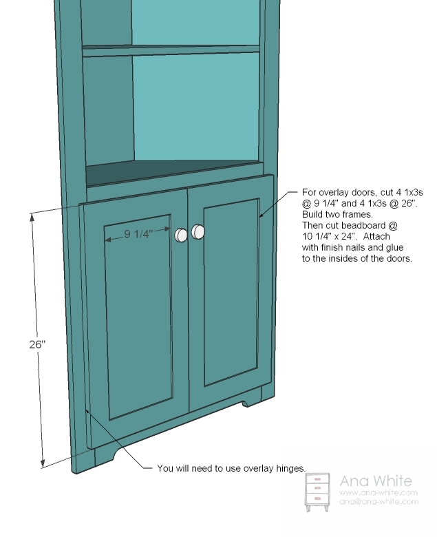 How To Build A Built In Corner Hutch