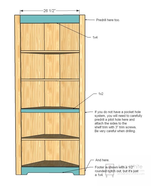 Corner Shelf Plans