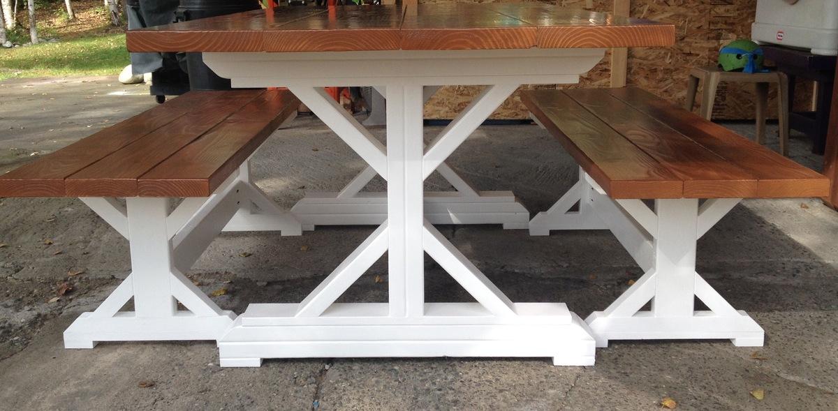 Fancy X Farm Table - DIY Projects