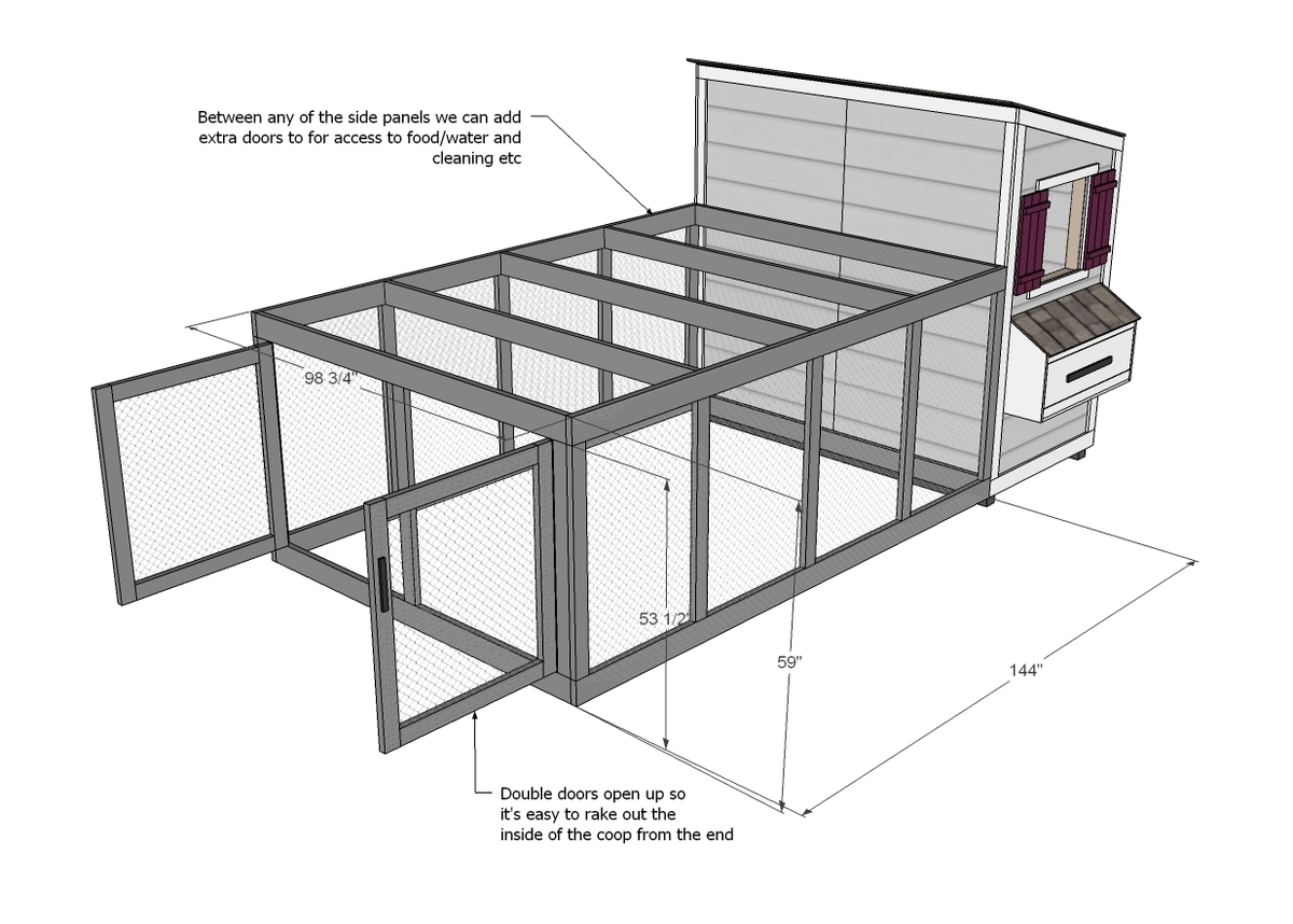 Ana White Chicken Coop Run For Shed Coop