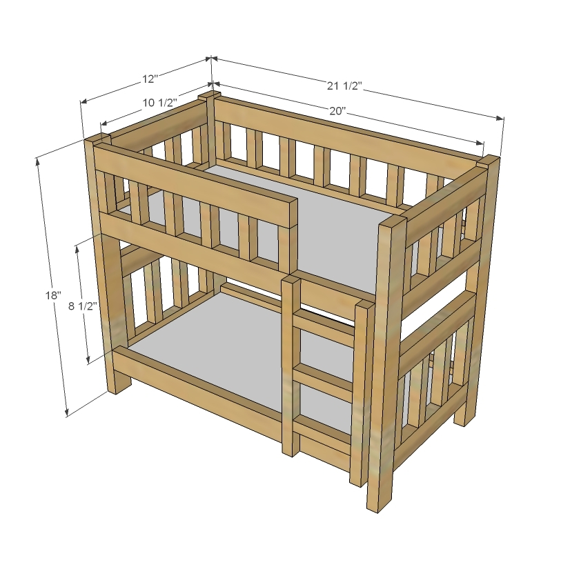 free american girl bunk bed plans