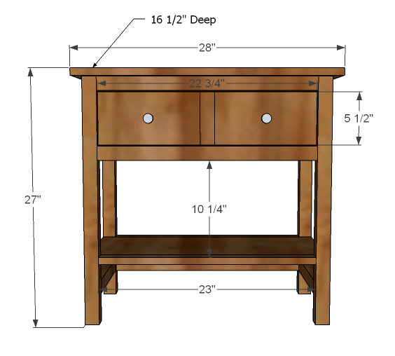 bed side table plans