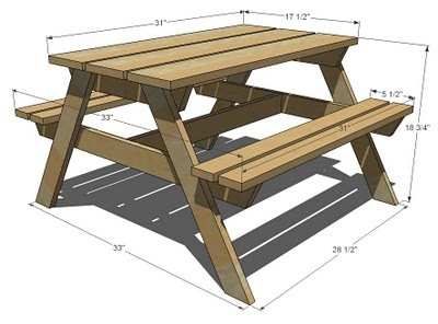 Picnic table plans pdf rightful73vke picnic table blueprints ccuart Choice Image