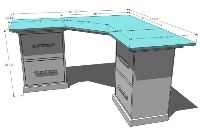 Office Corner Desktop Plans