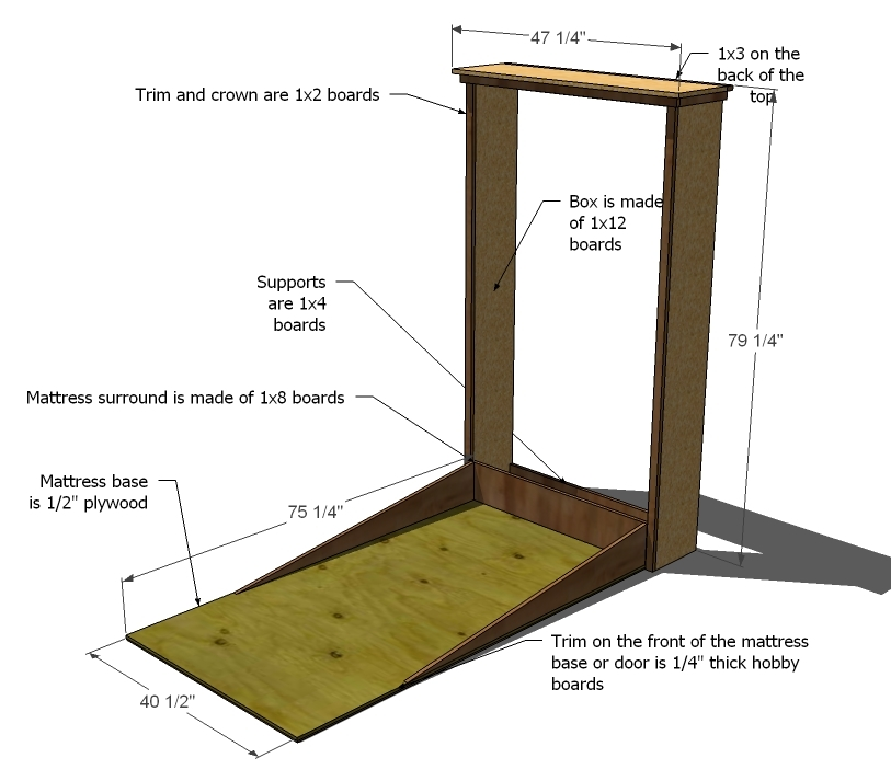 how to build a queen size murphy bed  plans