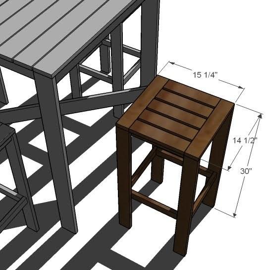 Building Outdoor Bar Stools